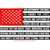 Demian DinéYazhi', AIDS Flag, 2015