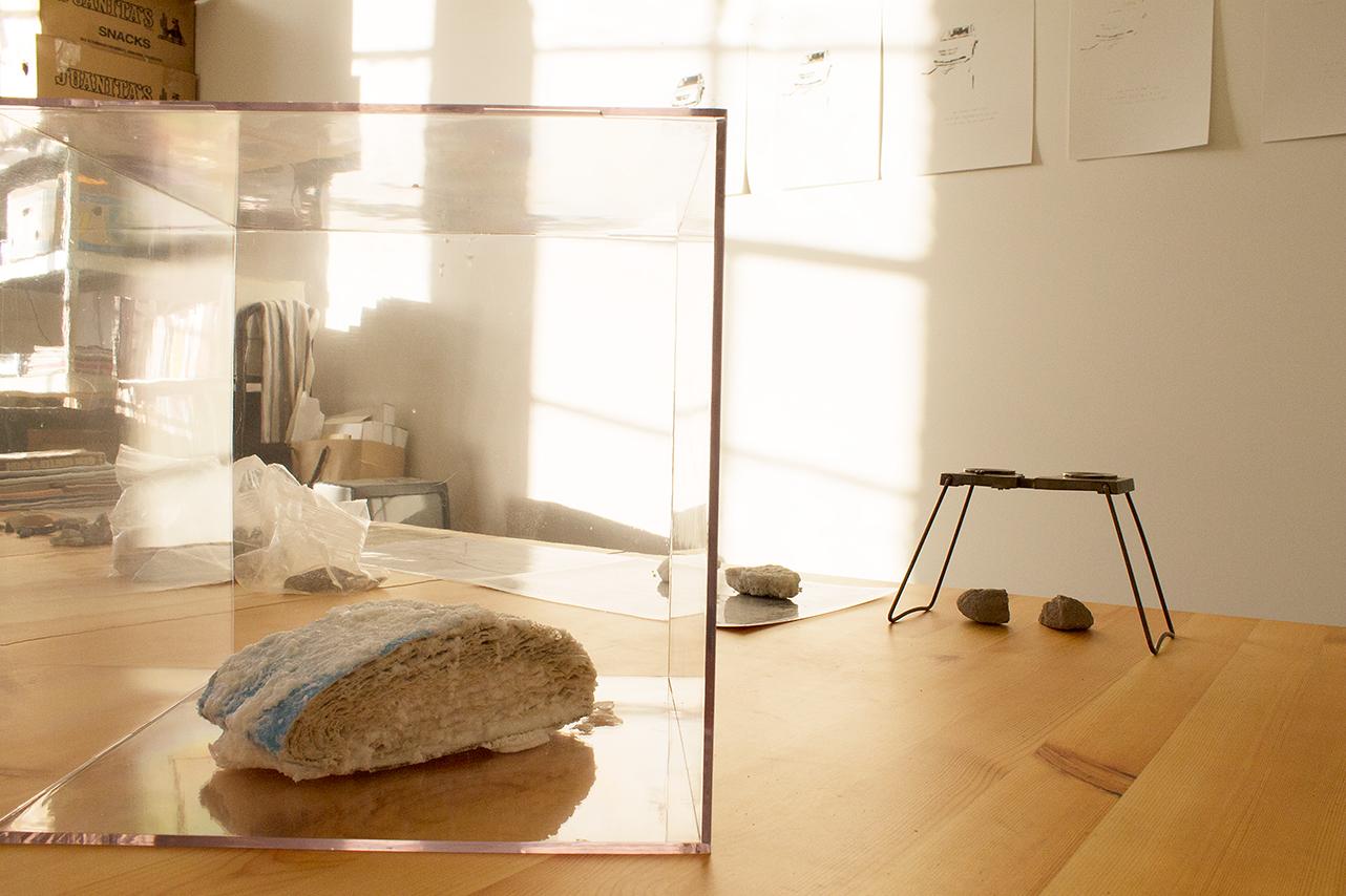 Studio detail, Jodie Cavalier MFA 2012 PNCA