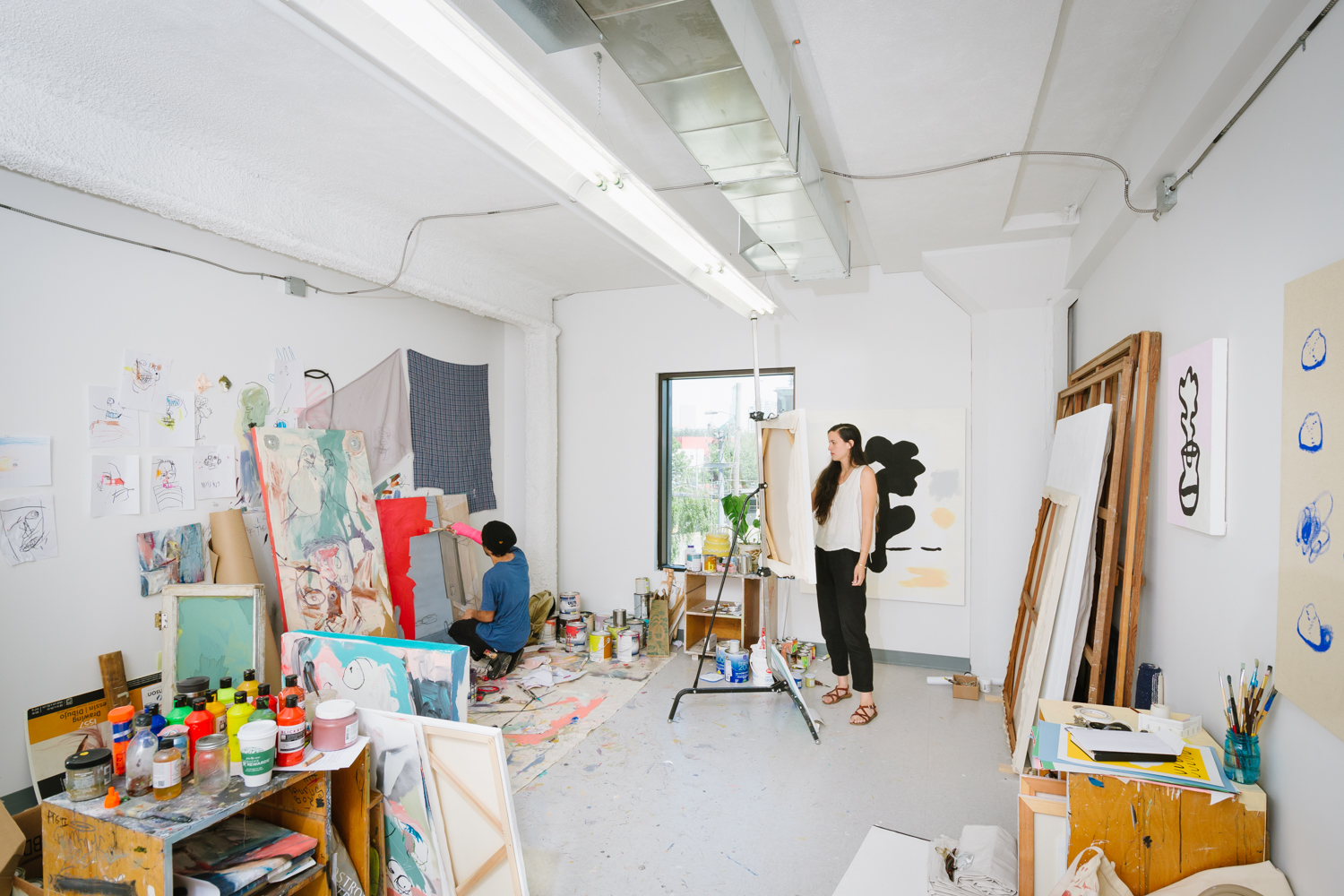 Lindsey Walker in her studio