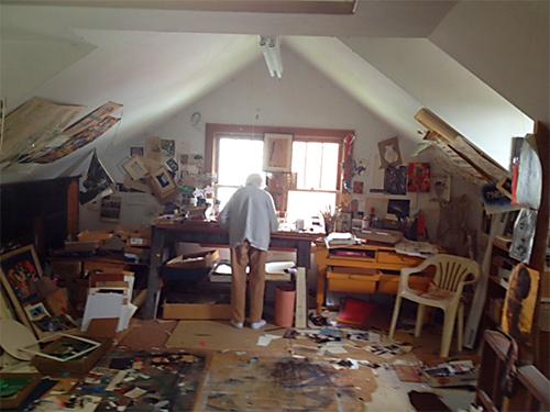Eunice Parsons in her studio