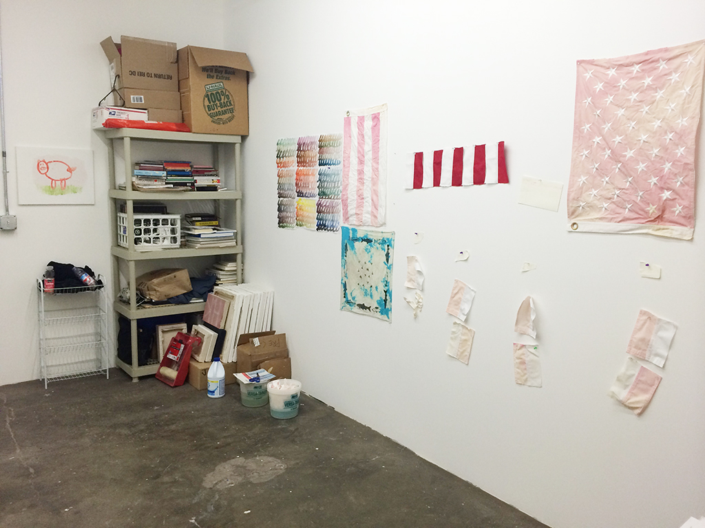 Rainmaker Residency studio of John Knight PNCA MFA in Visual Studies graduate
